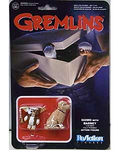 FUNKO x SUPER 7 REACTION FIGURES 3.75インチアクションフィギュア GREMLINS GIZMO WITH BARNEY
