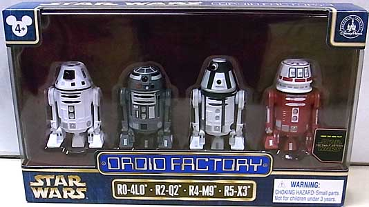 STAR WARS USAディズニーテーマパーク限定 STAR WARS THE FORCE AWAKENS DROID FACTORY 4PACK