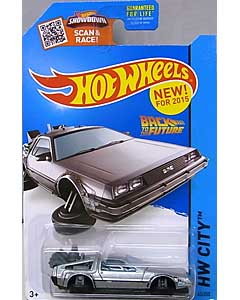 MATTEL HOT WHEELS 1/64スケール 2015 HW CITY BACK TO THE FUTURE TIME MACHINE HOVER MODE #45