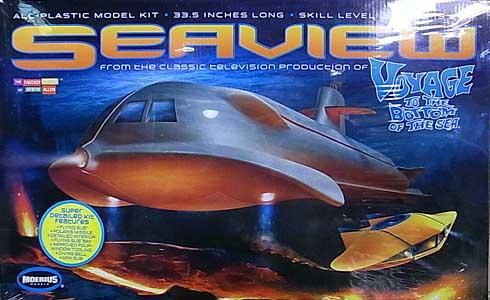 メビウスモデル 1/128スケール 原子力潜水艦シービュー号 組み立て式プラモデル [リニューアル版] パッケージ傷み特価(ダメージ大)