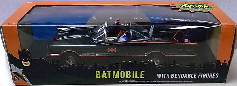 その他・海外メーカー BATMAN CLASSIC TV SERIES BATMOBILE WITH BENDABLE FIGURES パッケージ傷み特価