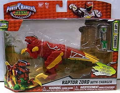 USA BANDAI POWER RANGERS DINO SUPER CHARGE RAPTOR ZORD WITH CHARGER