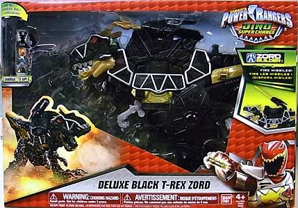 USA BANDAI POWER RANGERS DINO SUPER CHARGE DELUXE BLACK T-REX ZORD