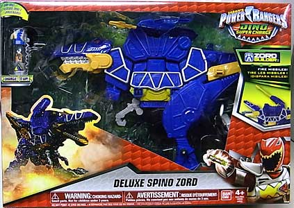 USA BANDAI POWER RANGERS DINO SUPER CHARGE DELUXE SPINO ZORD パッケージ傷み特価