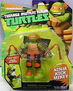 PLAYMATES NICKELODEON TEENAGE MUTANT NINJA TURTLES ベーシックフィギュア 2016 NINJA KICK MIKEY