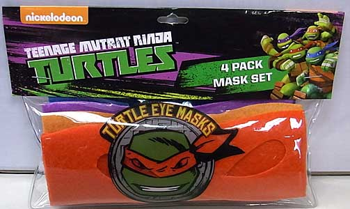 その他・海外メーカー NICKELODEON TEENAGE MUTANT NINJA TURTLES MASK SET 4PACK