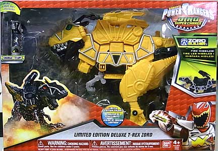 USA BANDAI POWER RANGERS DINO SUPER CHARGE LIMITED EDITION DELUXE T-REX ZORD