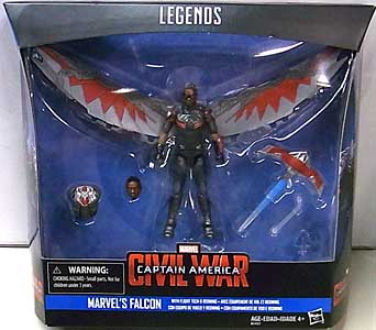 HASBRO MARVEL LEGENDS SERIES 2016 3.75インチアクションフィギュア 映画版 CAPTAIN AMERICA: CIVIL WAR FALCON