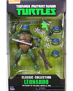 PLAYMATES TEENAGE MUTANT NINJA TURTLES CLASSIC COLLECTION 6インチアクションフィギュア 1991 MOVIE LEONARDO パッケージ傷み特価