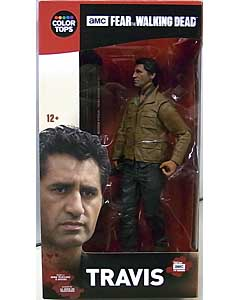McFARLANE TOYS FEAR THE WALKING DEAD TV COLOR TOPS: RED WAVE 7インチアクションフィギュア TRAVIS パッケージ傷み特価