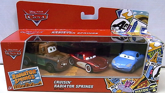 MATTEL CARS 2016 RADIATOR SPRINGS CLASSIC CRUISIN' RADIATOR SPRINGS 3PACK