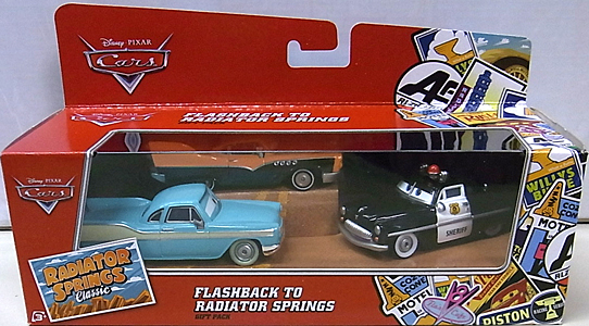 MATTEL CARS 2016 RADIATOR SPRINGS CLASSIC FLASHBACK TO RADIATOR SPRINGS 3PACK パッケージ傷み特価