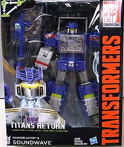 HASBRO TRANSFORMERS GENERATIONS TITANS RETURN LEADER CLASS SOUNDBLASTER & SOUNDWAVE パッケージ傷み特価