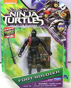 PLAYMATES 映画版 TEENAGE MUTANT NINJA TURTLES: OUT OF THE SHADOWS ベーシックフィギュア FOOT SOLDIER