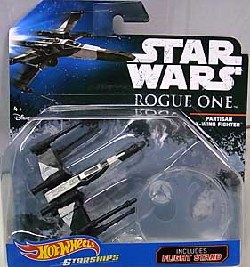MATTEL HOT WHEELS STAR WARS ROGUE ONE DIE-CAST VEHICLE PARTISAN X-WING FIGHTER