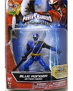 USA BANDAI POWER RANGERS NINJA STEEL 5インチアクションフィギュア BLUE RANGER