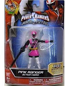 USA BANDAI POWER RANGERS NINJA STEEL 5インチアクションフィギュア PINK RANGER
