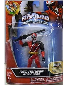 USA BANDAI POWER RANGERS NINJA STEEL 5インチアクションフィギュア RED RANGER