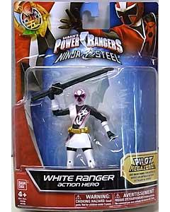 USA BANDAI POWER RANGERS NINJA STEEL 5インチアクションフィギュア WHITE RANGER
