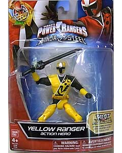 USA BANDAI POWER RANGERS NINJA STEEL 5インチアクションフィギュア YELLOW RANGER