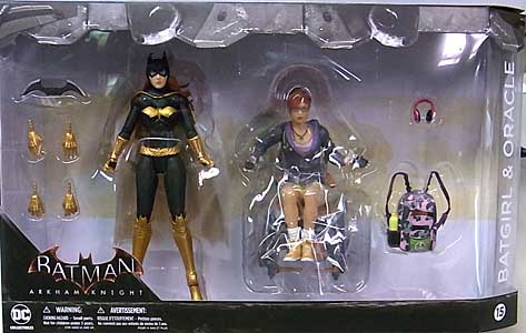 DC COLLECTIBLES BATMAN: ARKHAM KNIGHT 6インチアクションフィギュア BATGIRL & ORACLE 2PACK
