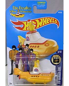 MATTEL HOT WHEELS 1/64スケール 2017 HW SCREEN TIME THE BEATLES YELLOW SUBMARINE #049