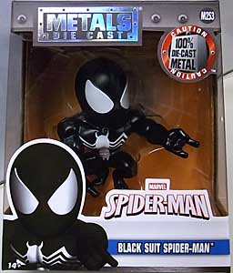 JADA TOYS SPIDER-MAN METALS DIE CAST 4インチフィギュア BLACK SUIT SPIDER-MAN パッケージ傷み特価