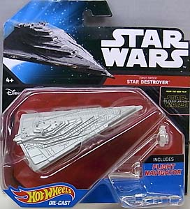 MATTEL HOT WHEELS STAR WARS THE FORCE AWAKENS DIE-CAST VEHICLE FIRST ORDER STAR DESTROYER 台紙傷み特価