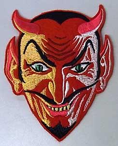 オカルトグッズ RED DEVIL アイロンワッペン
