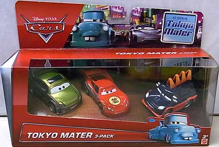 MATTEL CARS 2015 CARS TOON 3PACK TOKYO MATER