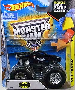 MATTEL HOT WHEELS 1/64スケール 2016 MONSTER JAM BATMOBILE [SNAP-ON BATTLE SLAMMER!]