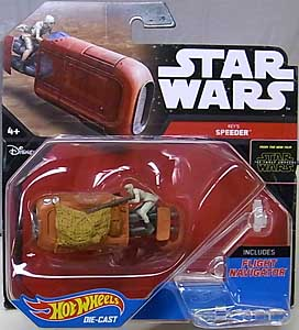 MATTEL HOT WHEELS STAR WARS THE FORCE AWAKENS DIE-CAST VEHICLE REY'S SPEEDER