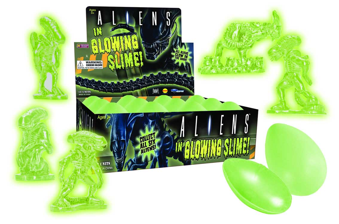 EMCE TOYS ALIENS GLOW IN THE DARK EGG WITH SLIME AND FIGURE 1ヶ [PREVIEWS EXCLUSIVE]