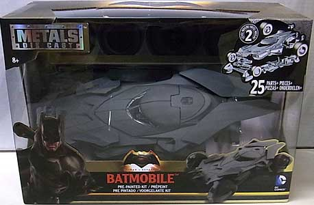 JADA TOYS BATMAN V SUPERMAN: DAWN OF JUSTICE METALS DIE CAST 1/24スケール BATMOBILE [ツヤ消し]