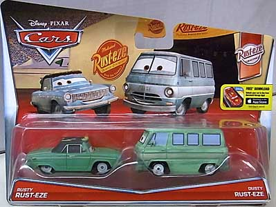 MATTEL CARS 2015 2PACK RUSTY RUST-EZE & DUSTY RUST-EZE ブリスターハガレ特価