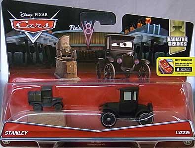 MATTEL CARS 2015 2PACK STANLEY & LIZZIE 台紙傷み特価