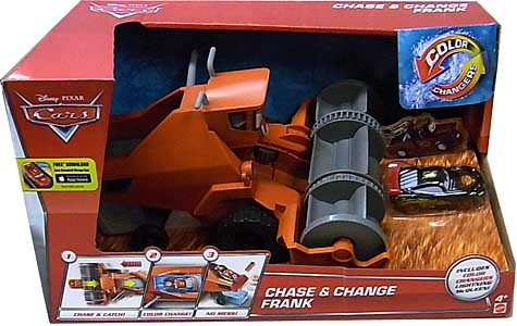 MATTEL CARS 2015 COLOR CHANGERS PLAYSET CHASE & CHANGE FRANK パッケージ破れ特価