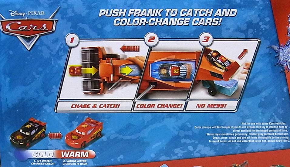 MATTEL CARS 2015 COLOR CHANGERS PLAYSET CHASE & CHANGE FRANK