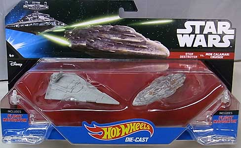 MATTEL HOT WHEELS STAR WARS DIE-CAST VEHICLE 2PACK STAR DESTROYER VS MON CALAMARI CRUISER ブリスター傷み特価