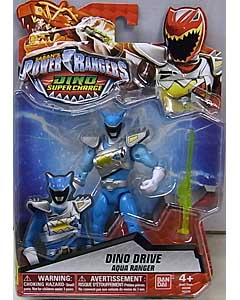 USA BANDAI POWER RANGERS DINO SUPER CHARGE 5インチアクションフィギュア DINO DRIVE AQUA RANGER