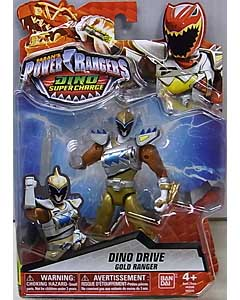 USA BANDAI POWER RANGERS DINO SUPER CHARGE 5インチアクションフィギュア DINO DRIVE GOLD RANGER