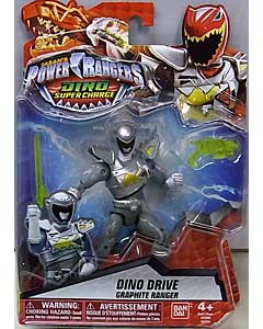 USA BANDAI POWER RANGERS DINO SUPER CHARGE 5インチアクションフィギュア DINO DRIVE GRAPHITE RANGER