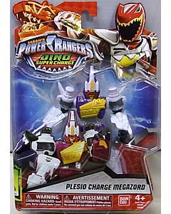 USA BANDAI POWER RANGERS DINO SUPER CHARGE 5インチアクションフィギュア PLESIO CHARGE MEGAZORD