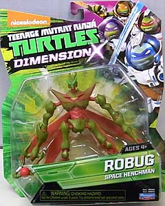 PLAYMATES NICKELODEON TEENAGE MUTANT NINJA TURTLES ベーシックフィギュア 2016 DIMENSION X ROBUG ブリスター傷み特価