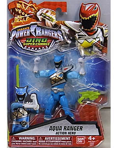 USA BANDAI POWER RANGERS DINO SUPER CHARGE 5インチアクションフィギュア AQUA RANGER
