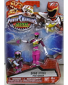 USA BANDAI POWER RANGERS DINO SUPER CHARGE 5インチアクションフィギュア DINO STEEL PINK RANGER