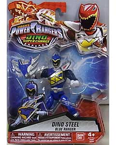 USA BANDAI POWER RANGERS DINO SUPER CHARGE 5インチアクションフィギュア DINO STEEL BLUE RANGER