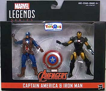 HASBRO MARVEL LEGENDS SERIES 2016 3.75インチアクションフィギュア 2PACK AVENGERS CAPTAIN AMERICA & IRON MAN