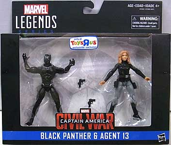 HASBRO MARVEL LEGENDS SERIES 2016 3.75インチアクションフィギュア 2PACK 映画版 CAPTAIN AMERICA: CIVIL WAR BLACK PANTHER & AGENT 13