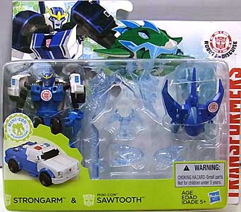 HASBRO アニメ版 TRANSFORMERS ROBOTS IN DISGUISE STRONGARM & MINI-CON SAWTOOTH
